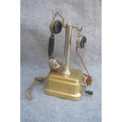 Téléphone Colonne De Bureau En Laiton