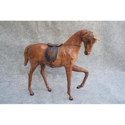 Cheval En Cuir, art populaire