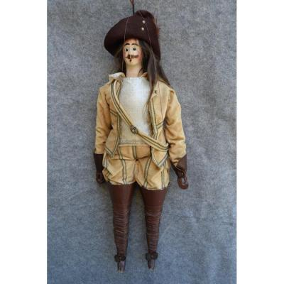 Marionnette à Tringle Du Théâtre Royal De Toone, art forain