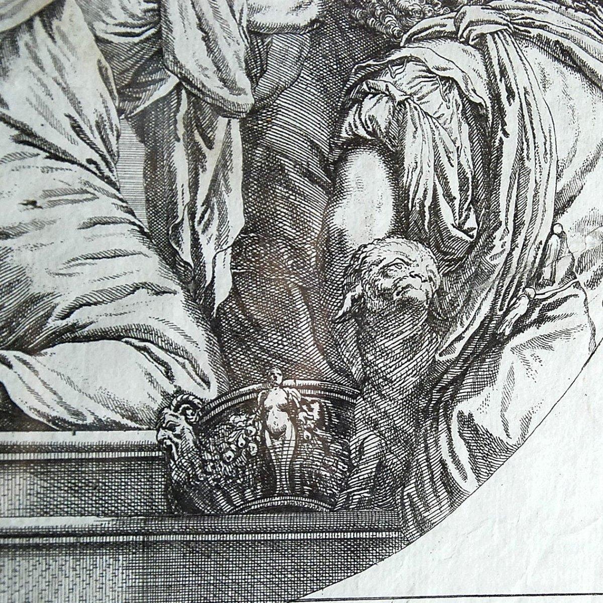 Veronese : gravure XVIIème  : Assomption de la Vierge-photo-1
