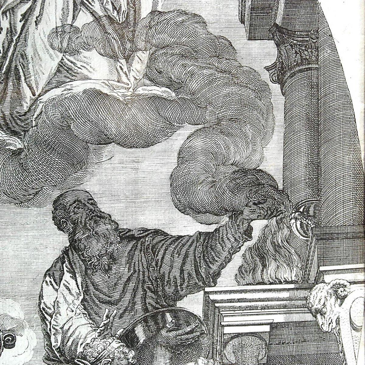 Veronese : gravure XVIIème  : Assomption de la Vierge-photo-2