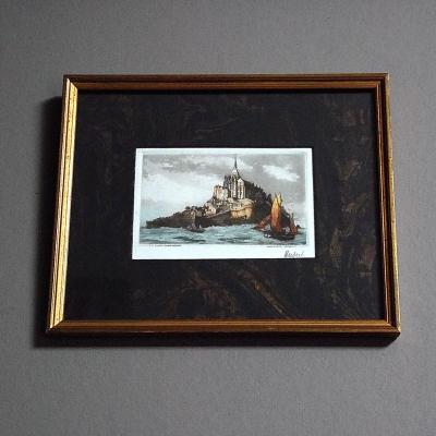 Le Mont Saint Michel eau forte d'Alfred Hubert