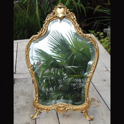 Miroir à posé en vermeil  de style Louis XV