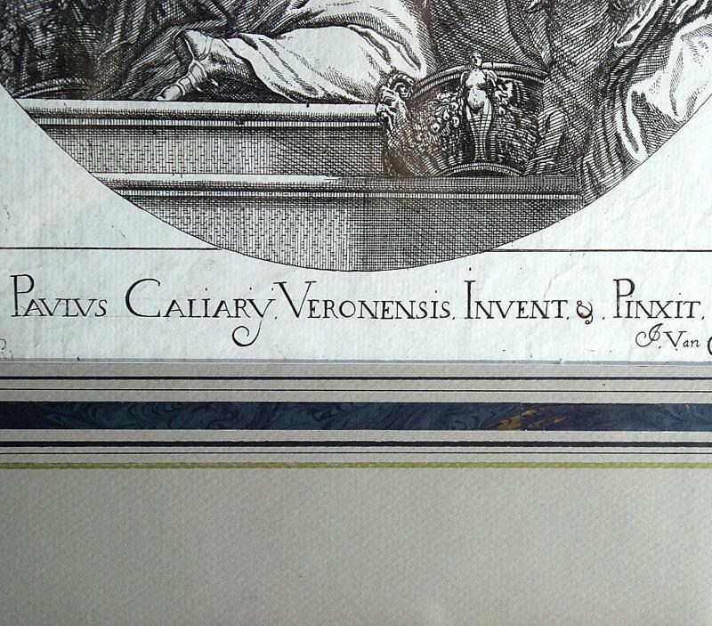 Veronese : gravure XVIIème  : Assomption de la Vierge-photo-3