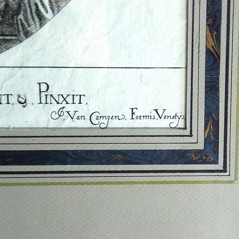 Veronese : gravure XVIIème  : Assomption de la Vierge-photo-4