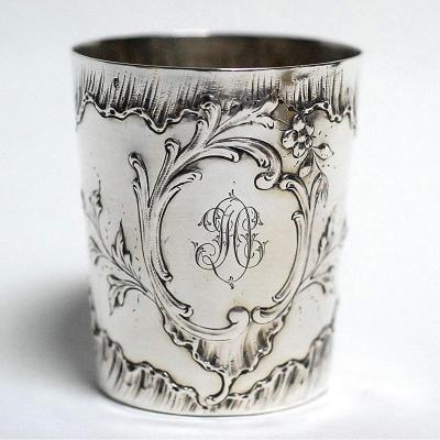 Louis XV Style Solid Silver Timbale
