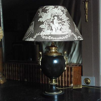 Bronze And Patinated Brass Lamp