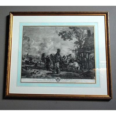 18th Century Engraving: `` Le Travail Du Maréchal ''