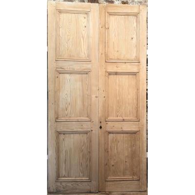 """Porte à deux vantaux, type """"Haussmanien"""""""