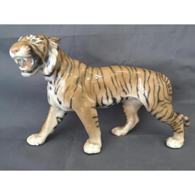 Tigre En Porecelaine De Copenhague / Tiger Royal Copenhagen