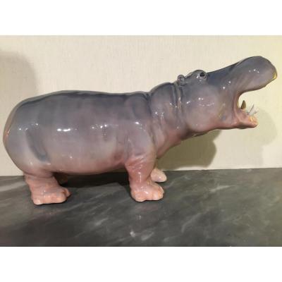 Hippopotame En Porcelaine Royal Copenhague N°309