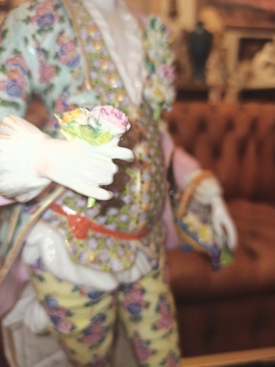 Pair Of Meissen Porcelain Sculptures D Eighteenth Time-photo-3