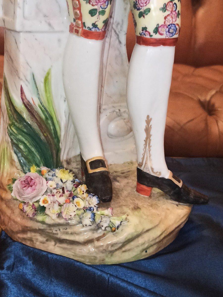 Pair Of Meissen Porcelain Sculptures D Eighteenth Time-photo-4