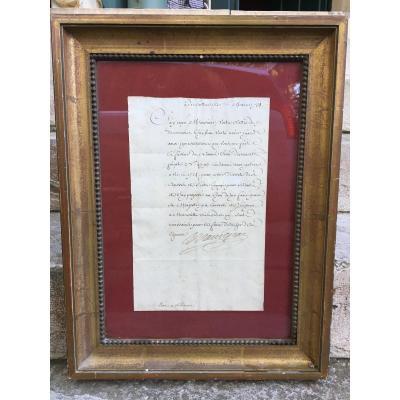 Lettre Autographe De Maurepas