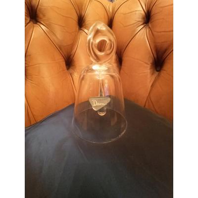 Clochette De Table En Cristal De Daum  Vers 1950