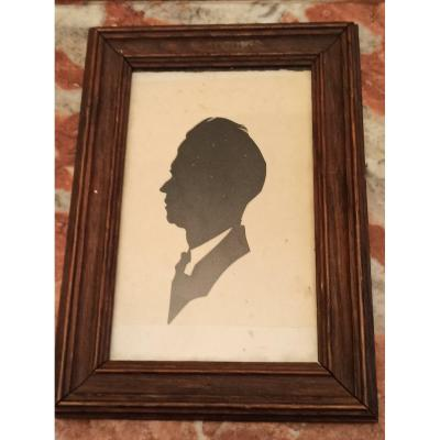 Portrait D Man In Paper Cut Type Chinese Shadow