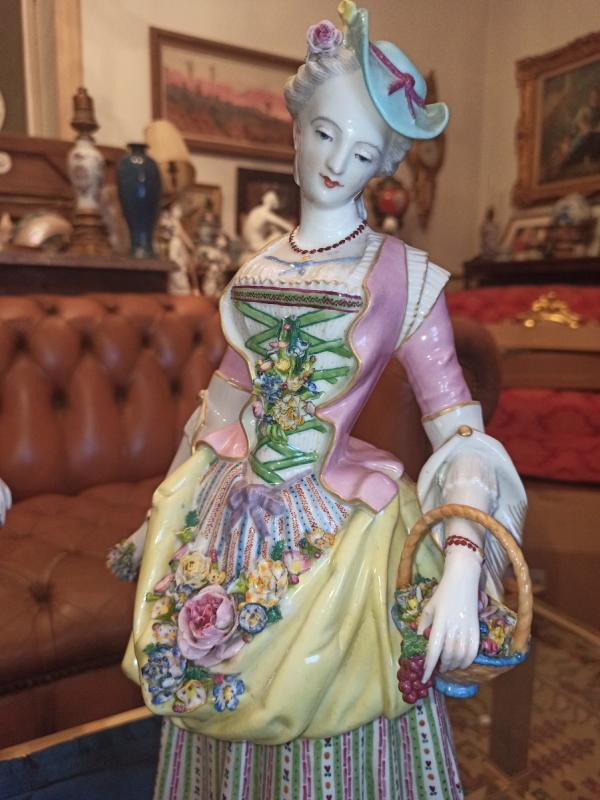 Pair Of Meissen Porcelain Sculptures D Eighteenth Time-photo-2