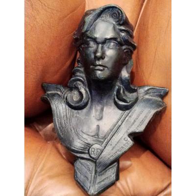 Buste De La Tête De Marianne En Bronze XXe