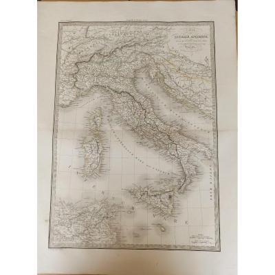 Carte De L Italie Ancienne Dressée Par M. Lapie Paris 1851 Chez Lehuby, Libraire