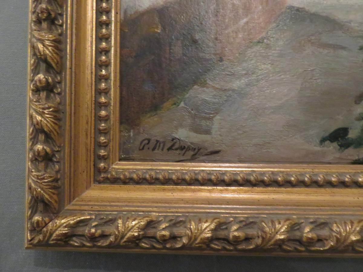 Oil S / Panel By Paul Michel Dupuy (1869-1949) -photo-3