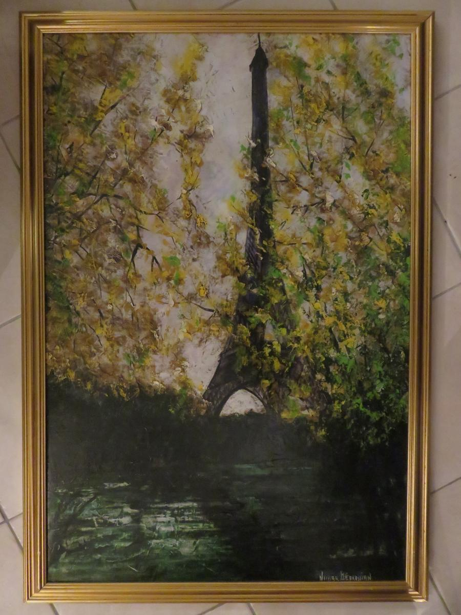 Oil On Canvas By Nubar Bedrossian (1926-1992)