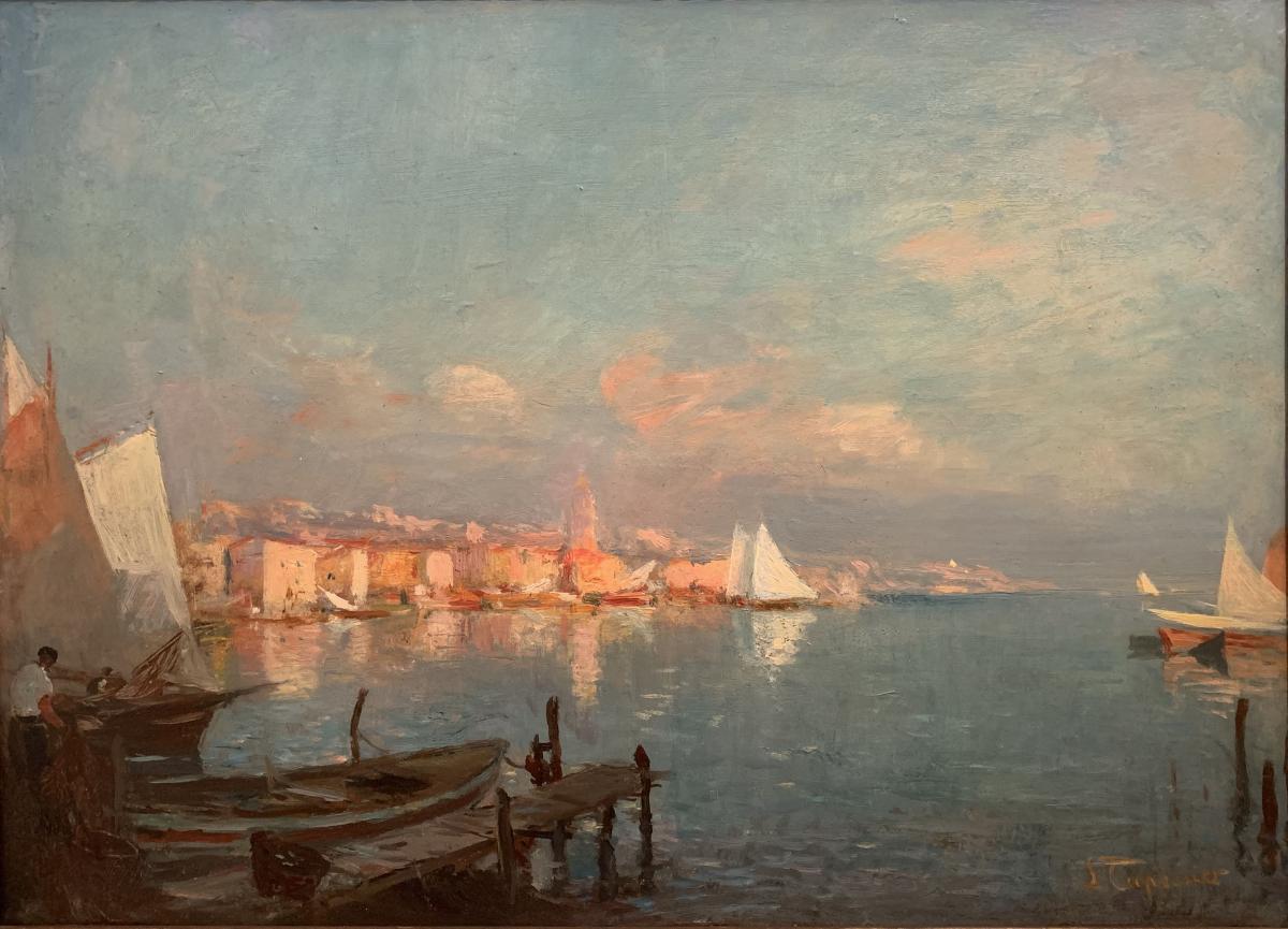 Les Martigues - Edmond Tapissier ( 1861-1943 )