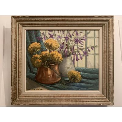 Bouquets De Fleurs - Claude Pallot ( 1901-1987 )