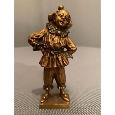 « Pierrot » Bronze De Dominique Alonzo XXe Siècle.