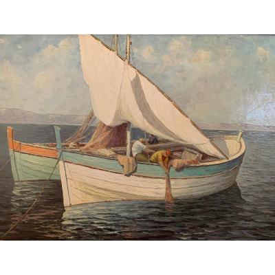 « Les Barques » - Edouard Mandon – (1885-1977)