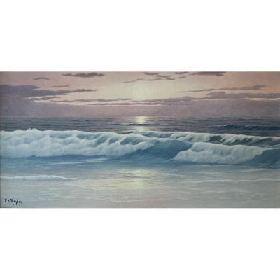 """""""the Beach"""" - Edouard Mandon - (1885-1977)"""