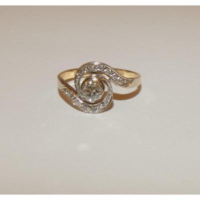 Gold And Diamond Tourbillon Ring