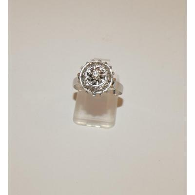Old Art Deco Gold And Diamonds Ring
