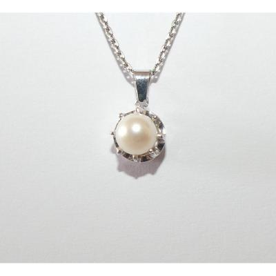 Old Gold And Pearl Pendant