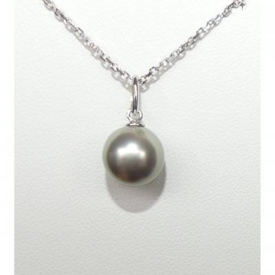 Gold And Tahitian Pearl Pendant
