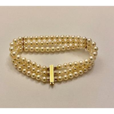 Bracelet Or Et Perles De Culture