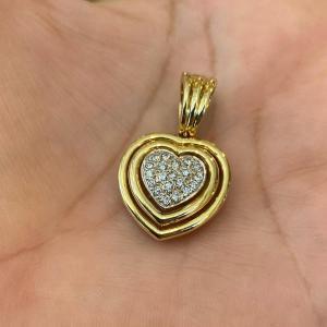 Pendentif Cœur En Or Et Diamants
