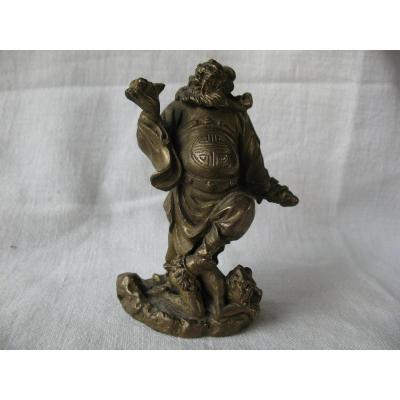 Figurine Zhong Kui En Bronze