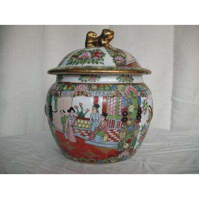 Pot A Gingembre En Porcelaine De Chine XXeme Siécle