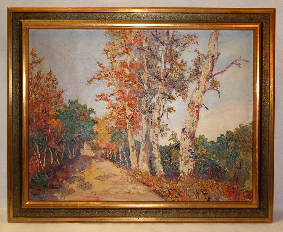 Tableau, Peinture , Paysage Signé R. Leger