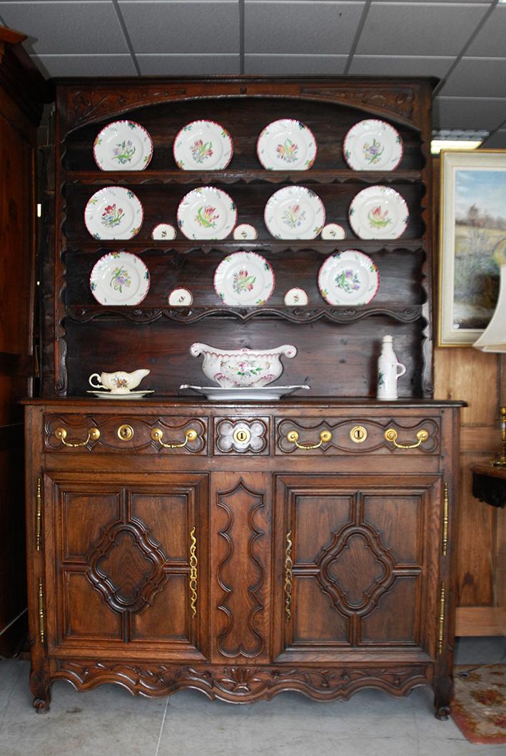 Buffet, Dresser, Dressoir Lorrain, Oak, XIX Eme.