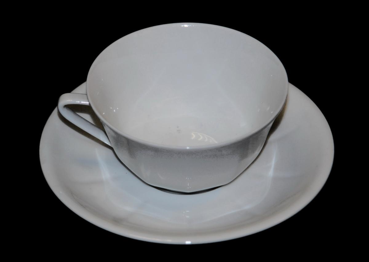 Service à Thé Ou Café, Tête à Tête En Porcelaine De Limoges, La Seynie.-photo-6