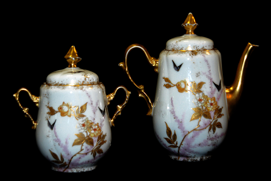 Porcelain Theater, Limoges Porcelain Theater, Hand Painted Decor.-photo-6