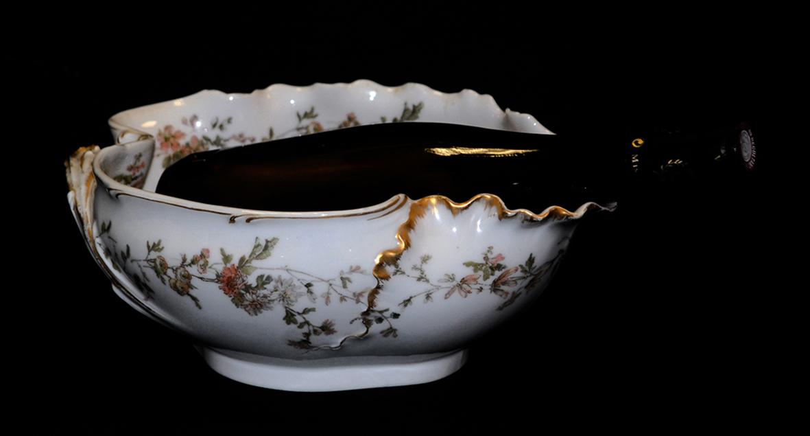 Coupe , Rafraichissoir En Porcelaine De Limoges, Haviland.