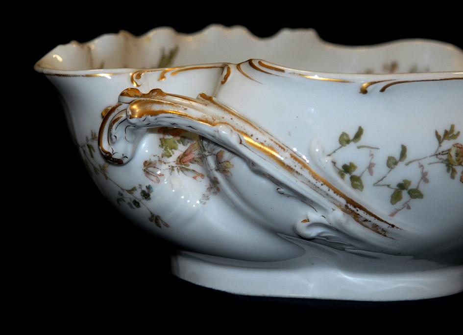 Coupe , Rafraichissoir En Porcelaine De Limoges, Haviland.-photo-6