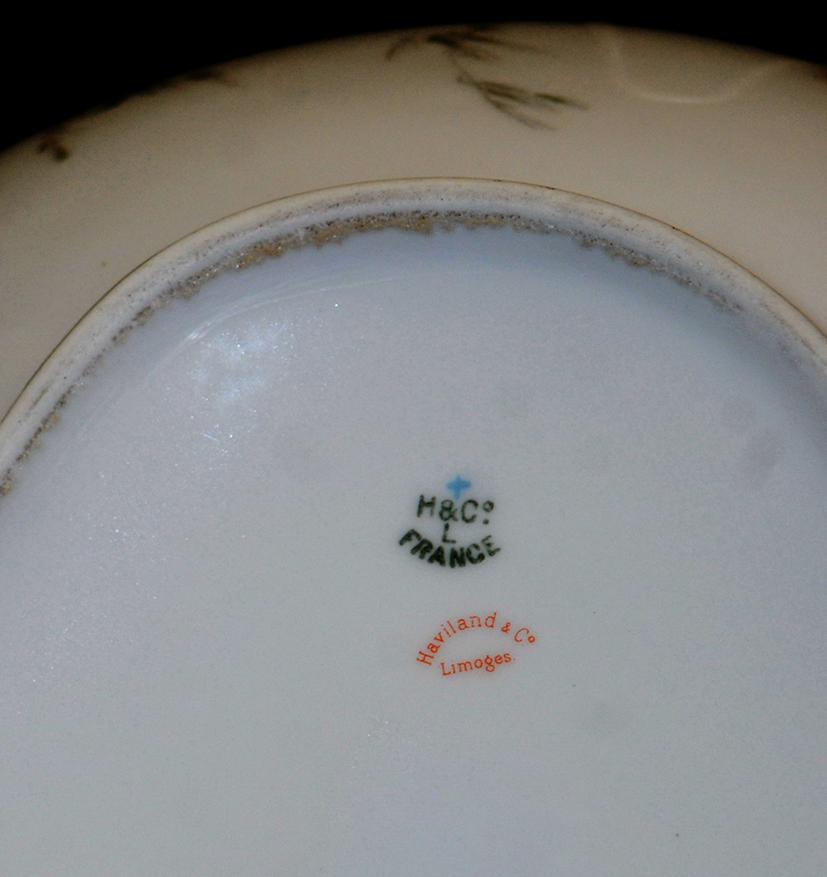 Coupe , Rafraichissoir En Porcelaine De Limoges, Haviland.-photo-8