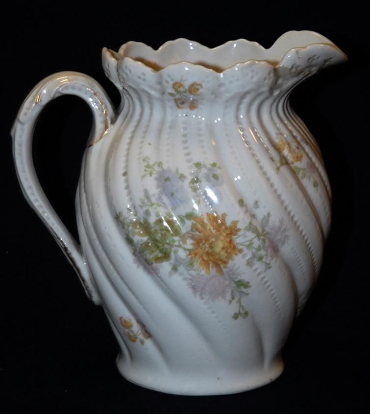 Pichet, Broc, Aiguière En Porcelaine De Limoges William Guerin.