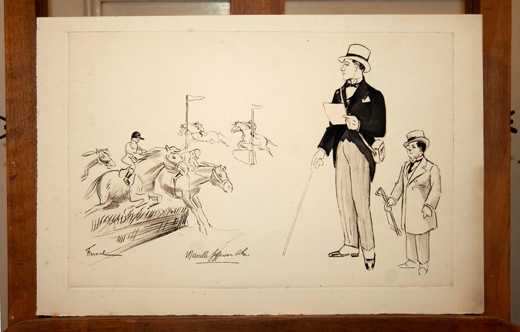 Gravure De Fernand Fernel, Numéro De Cirque, Gala De l'Union, Marcelle Jefferson Coha.-photo-2