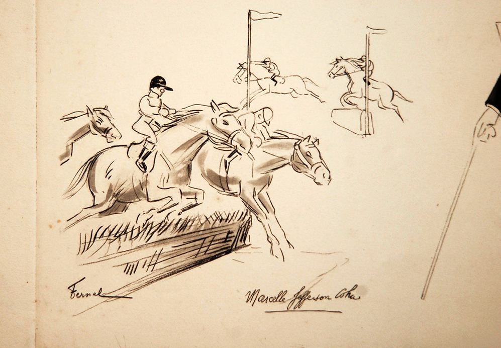 Gravure De Fernand Fernel, Numéro De Cirque, Gala De l'Union, Marcelle Jefferson Coha.-photo-3