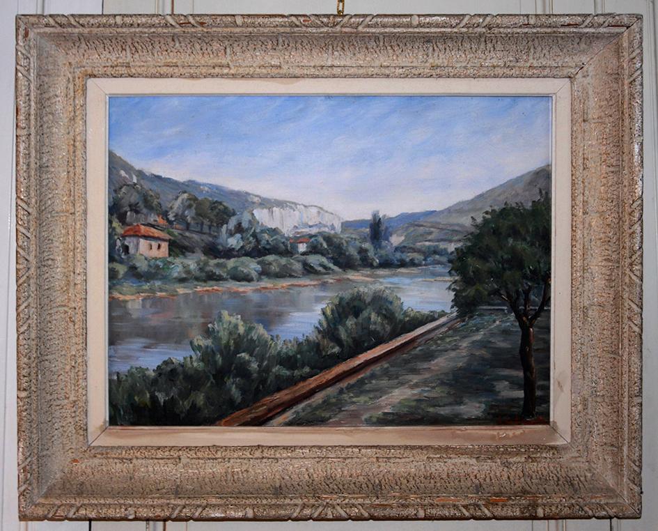 Tableau, Peinture Huile Sur Toile, Paysage, Lucien De Clereauville.