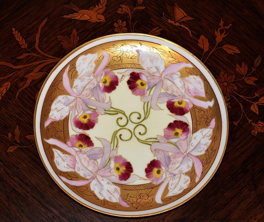 Plat Décoratif, Assiette en Porcelaine De Limoges, Haviland 1893-1930